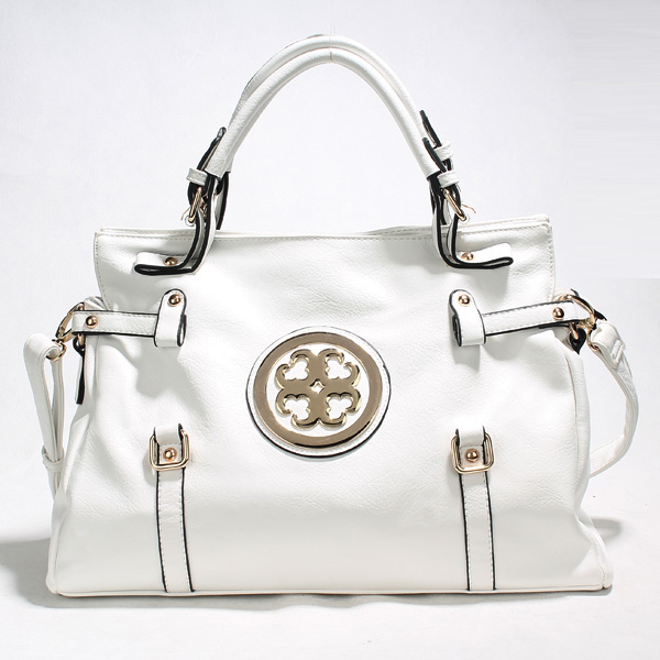 Wholesale Lady Tote Handbags T26425#WHITE