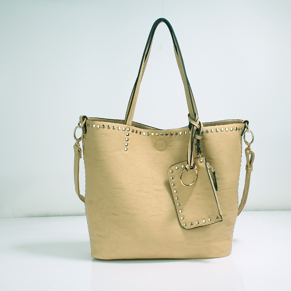 Wholesale Lady Tote Handbags T26519#BEIGE