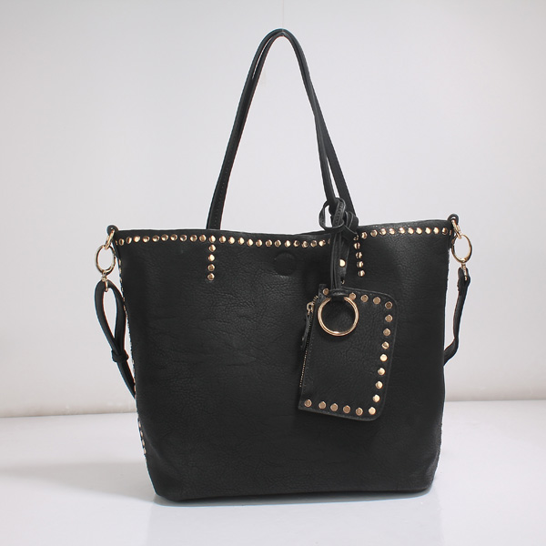 Wholesale Lady Tote Handbags T26519#BLACK