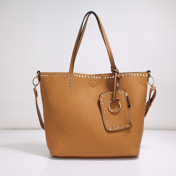 Wholesale Lady Tote Handbags T26519#BROWN