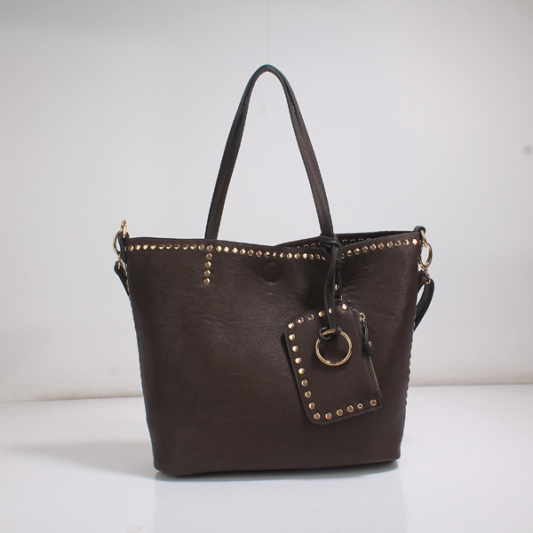 Wholesale Lady Tote Handbags T26519#COFFEE