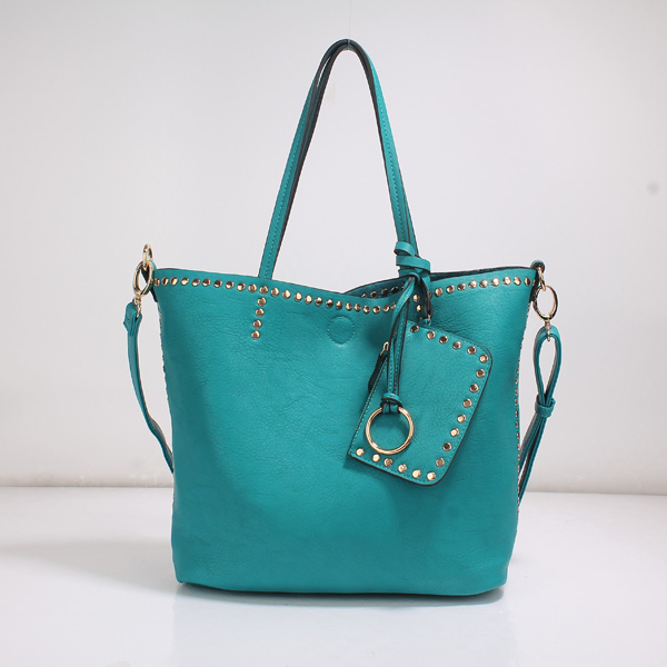 Wholesale Lady Tote Handbags T26519#CYAN