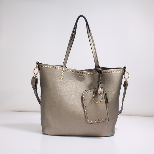 Wholesale Lady Tote Handbags T26519#D.SILVER