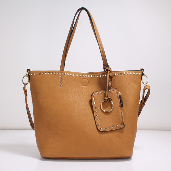 Wholesale Lady Tote Handbags T26519#TAN