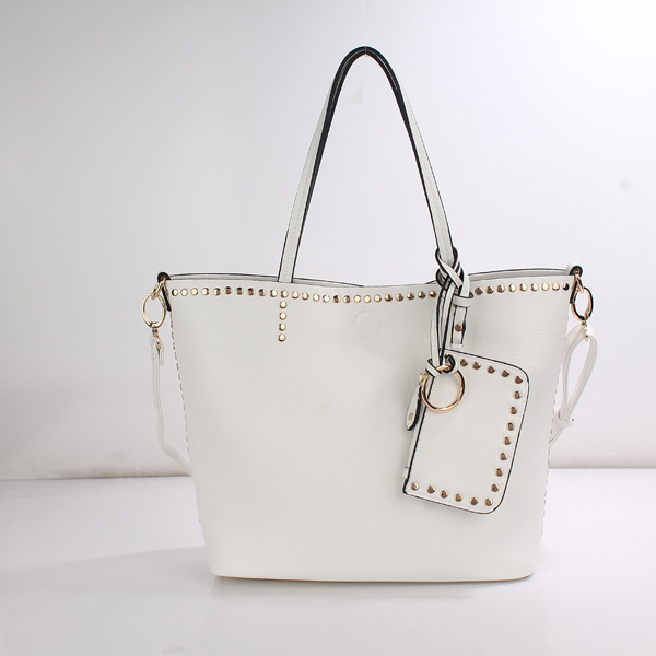 Wholesale Lady Tote Handbags T26519#WHITE