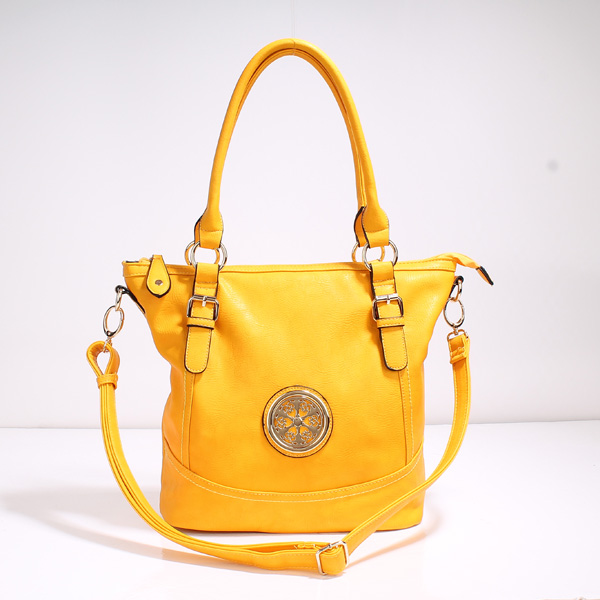 Wholesale Lady Tote Handbags T71012#YELLOW