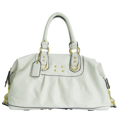 Wholesale Lady Tote Handbags T74098#WHITE